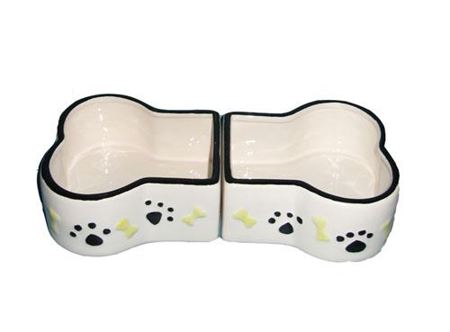 Ceramic Bone Shape Dog Bowl Fujian Dehua Huide Ceramics