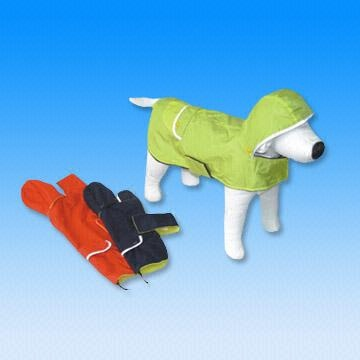 Dog Raincoats in Sizes of 8 Inches to 20 Inches