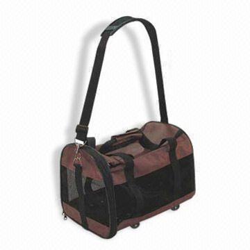 Pet Brown and Black Carrier Bag