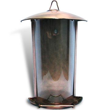 Bronze bird feeder
