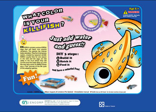 Aquarium educational science kit- What Color is your Killifish