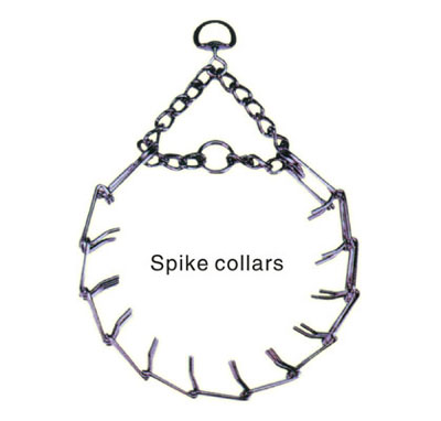 Dog spike collar