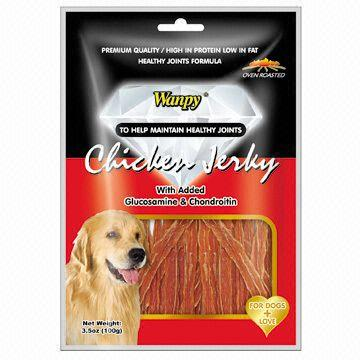 Dry Chicken Jerky, with Glucosamine and Chondroitin Additives