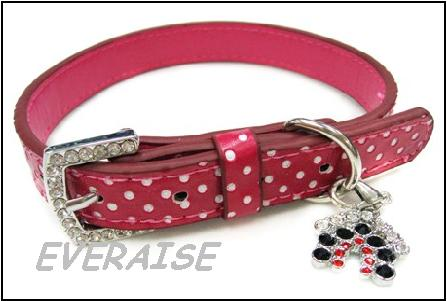 PERKY PINK DOG COLLARS