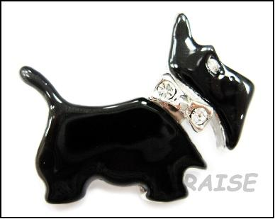 BLACK SCOTTIE BROOCH PIN