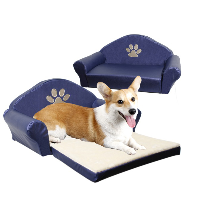 Luxury soft PU fabric pet beds(YF72058)