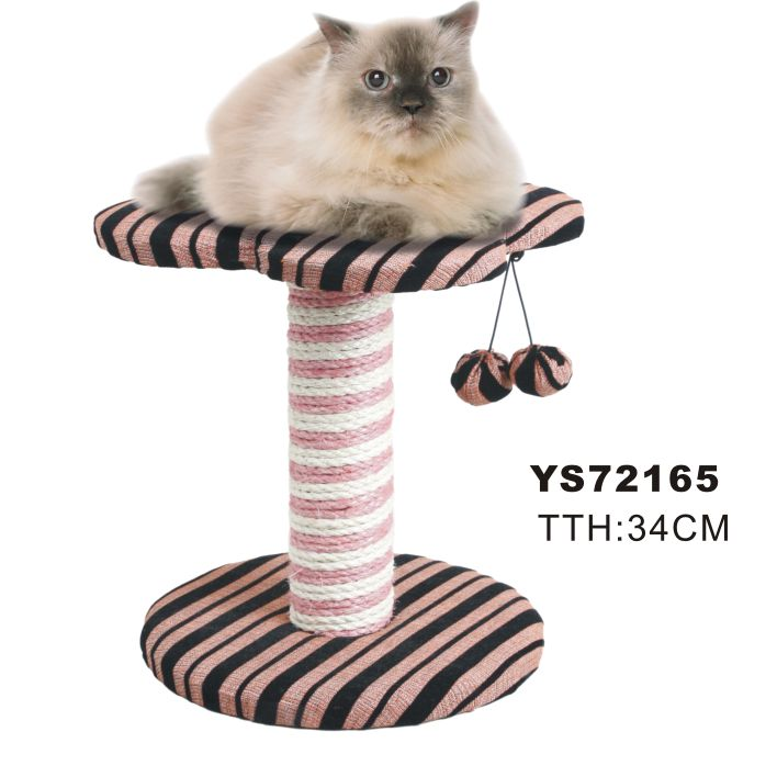 Thick stripe fabric cat trees(YS72165)