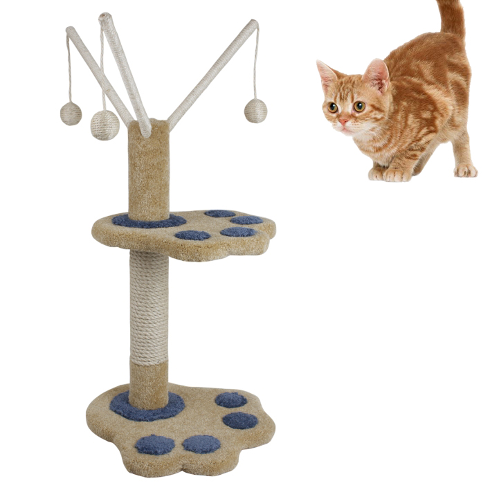 pet products/Cat Scratcher tree w/leaves decoration(YS72203)