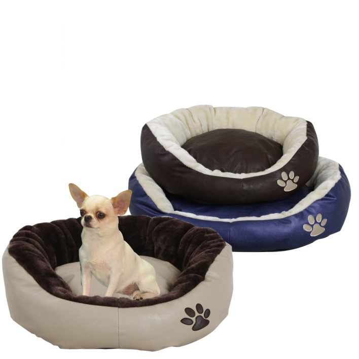 pet products/Luxury soft PU fabric pet beds(YF72063)