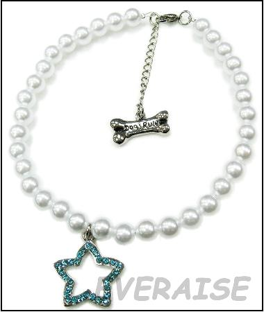 PEARLS NECKLACE W / RHINESTONE STAR