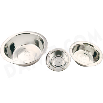 Pet bowl embossed