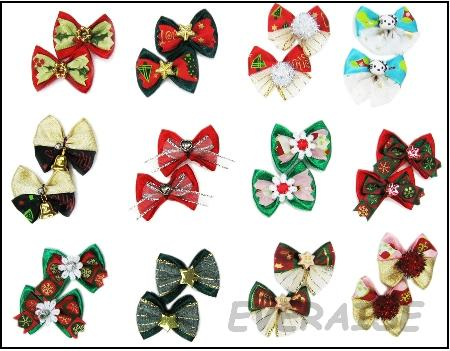 CHRISTMAS HAIR BOWS