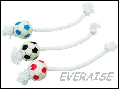 PLUSH SOCCER ROPE TOY