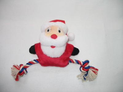 christmas pet toys dog toys with rope with squeaker