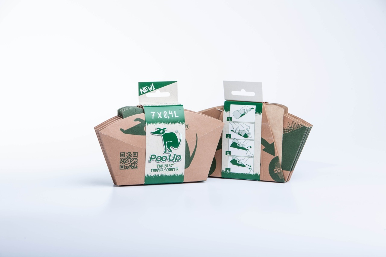 PooUp - new cardboard dog poop bags from Estonia