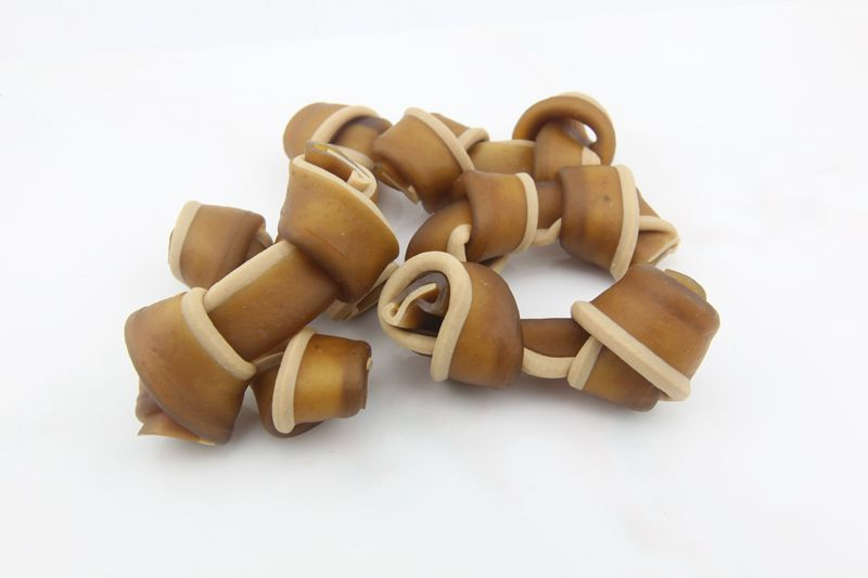 2.5 Inch Beef Taste Cheese Knot  Pet Chews