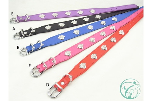 Electroplated Paw Stud Dog Collars