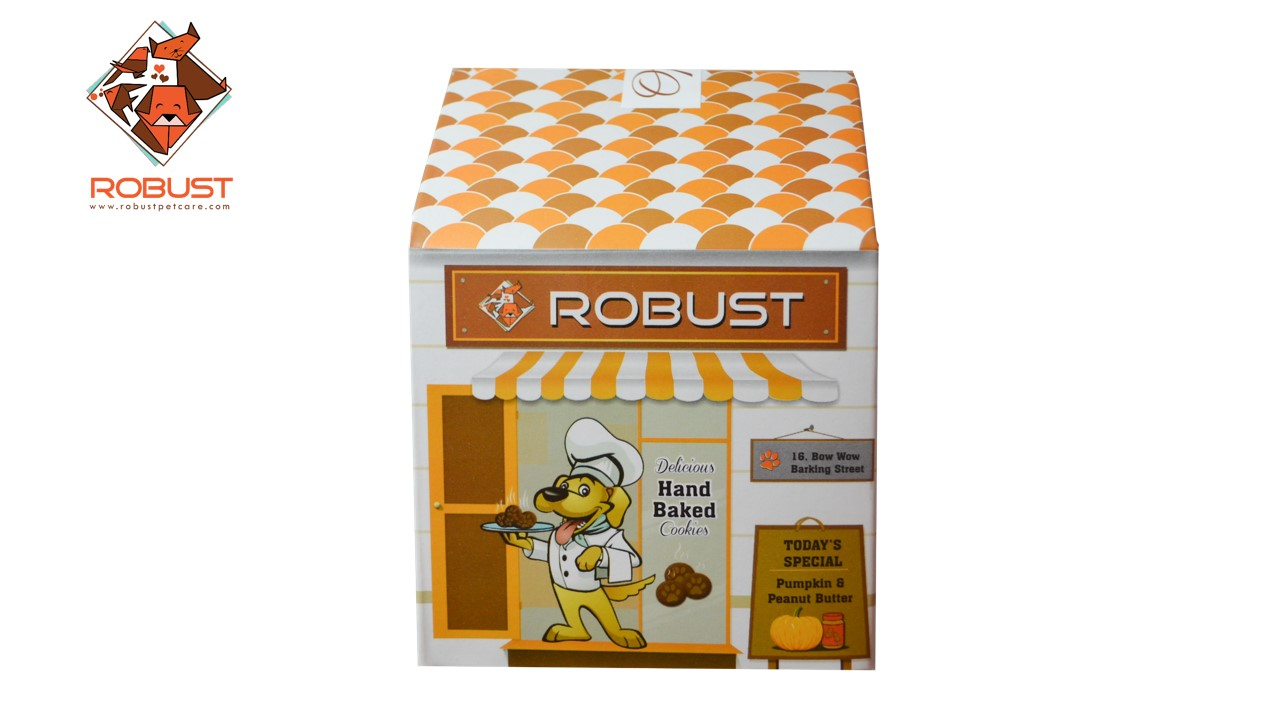 Robust Premium Dog Cookies- Pumpkin & Peanut Butter
