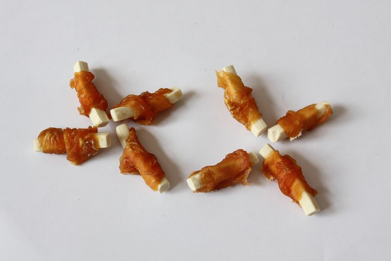 cheese stick twined by chicken