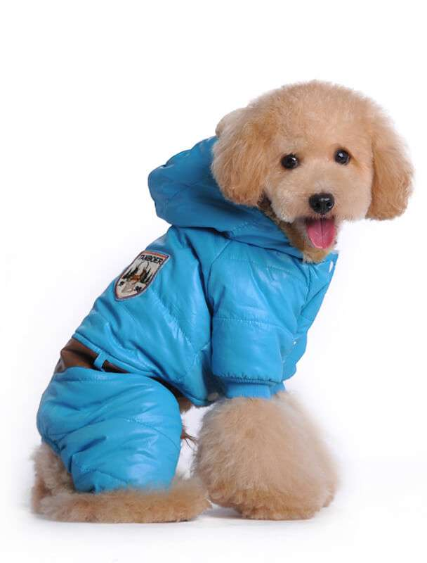Dog Windproof Waterproof Hooded Snowsuit Winter Coat Manufacturer
