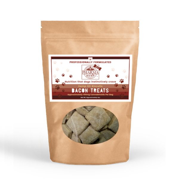 Pharma Hemp Complex CBD Oil Bacon Dog Biscuits (4oz/100mg)