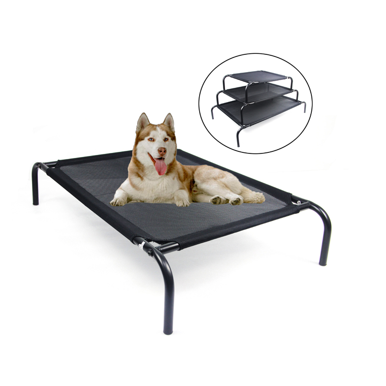 Pet Products Original Elevated Large Medium Small Luxury Pet Cot Dog Bed with Cooling Mesh Center