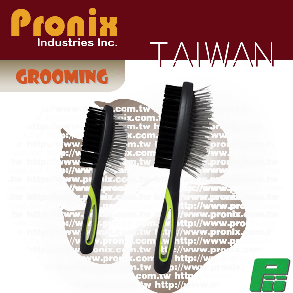 Two sided pin brush