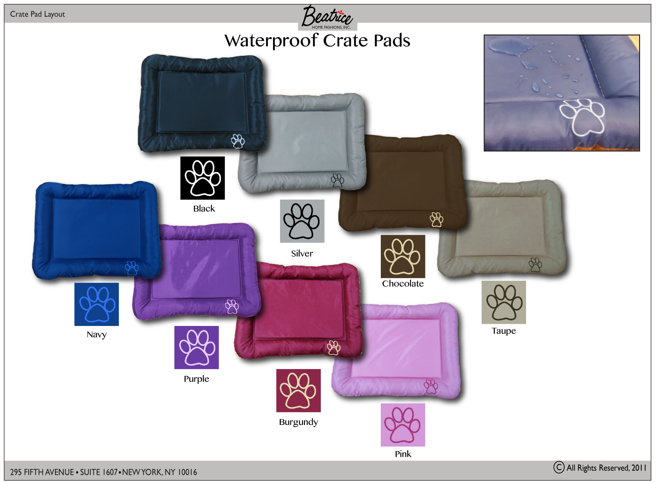 WATERPROOF CRATE PADS