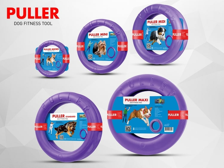 PULLER is an innovative dog fitness tool that consists of 2 ring