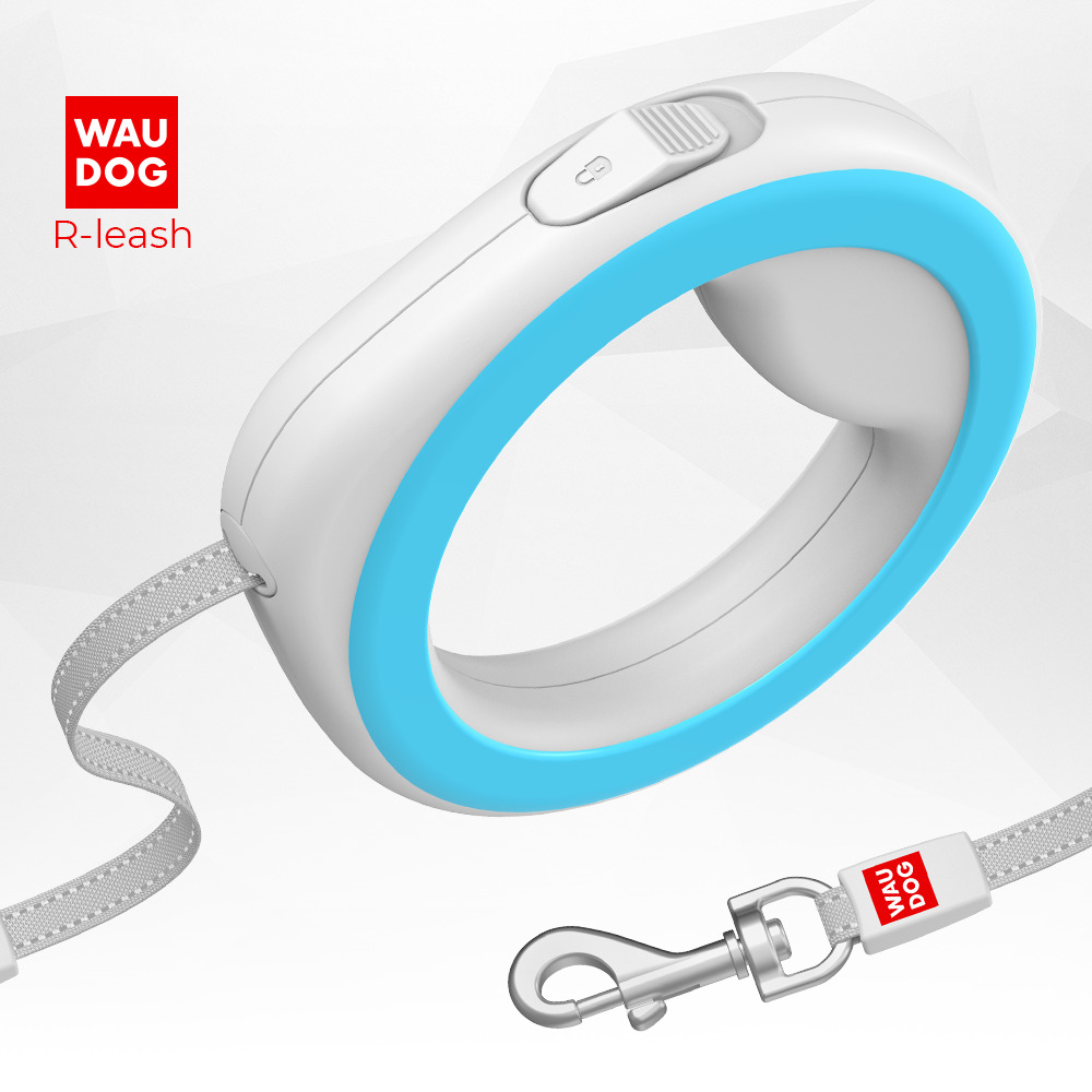WAUDOG ring-shaped retractable leash