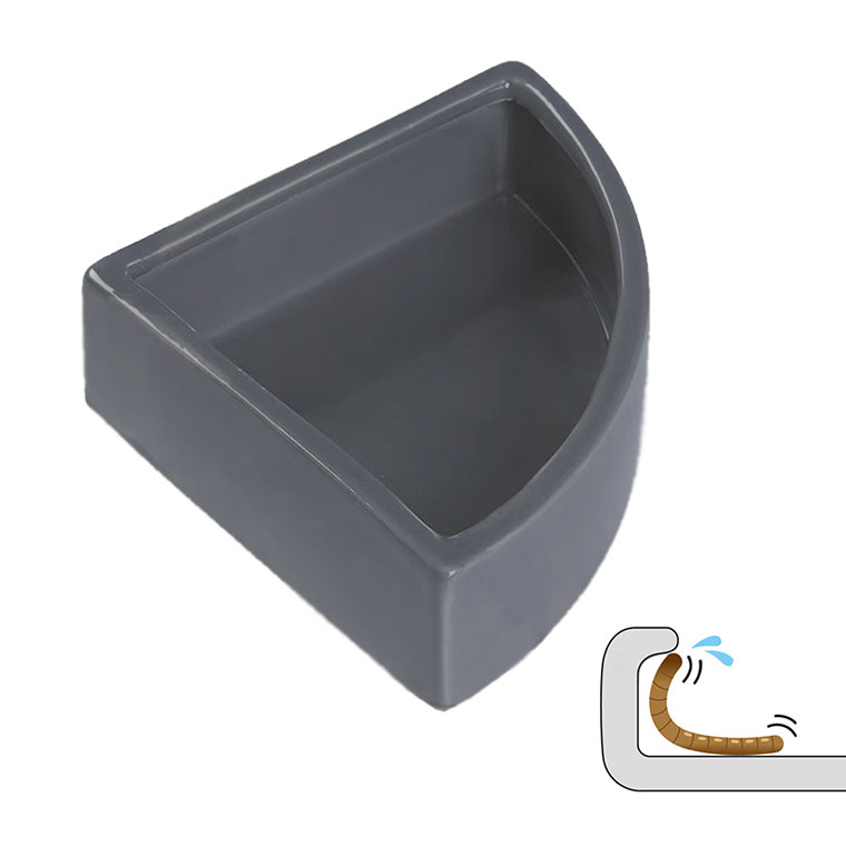 Reptile Corner Feeding Dish Ceramic Food and Water Bowl no Escaping
