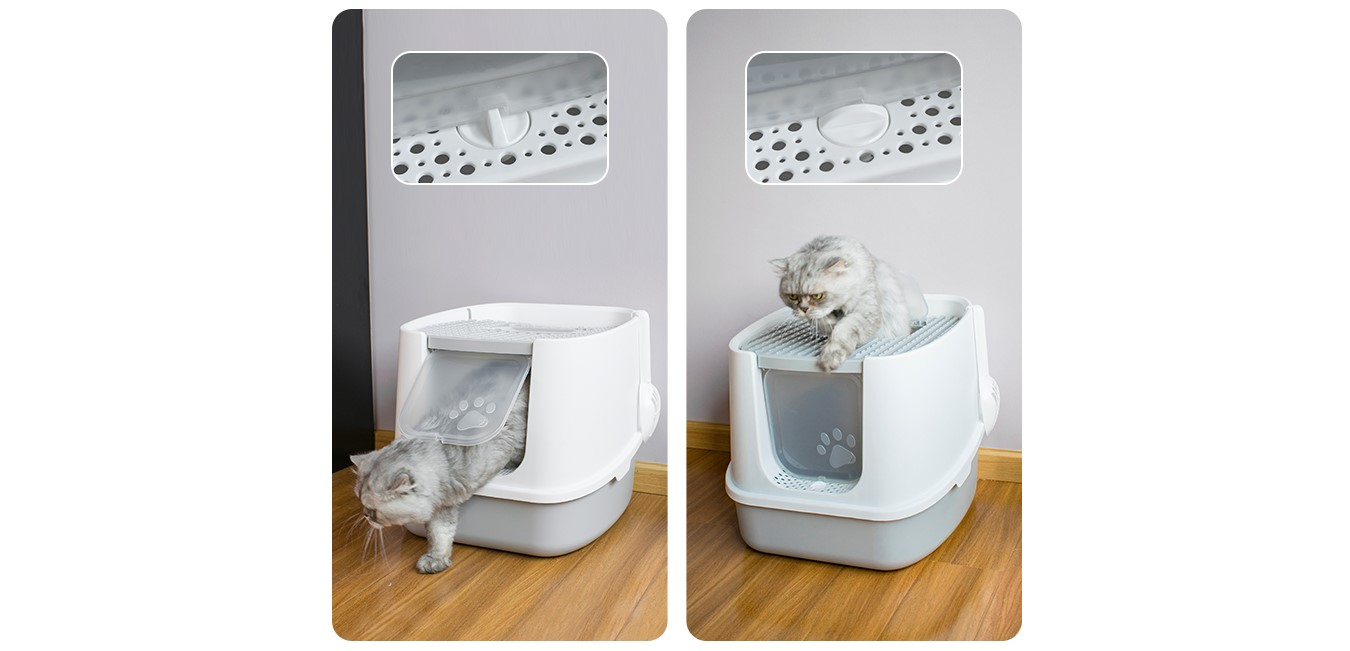 Cat litter box (Sand leakage design , cat litter reuse)