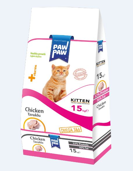Paw Paw Kitten Food Chicken