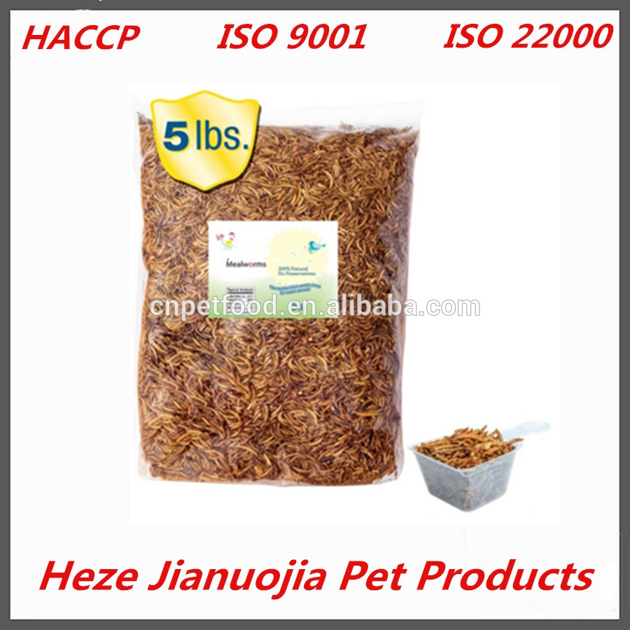 5 lbs bulk dried mealworms for pet food freeze dried micro dried mealworms