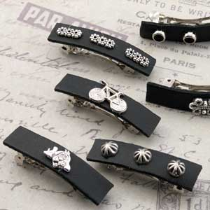 French style metal barrette