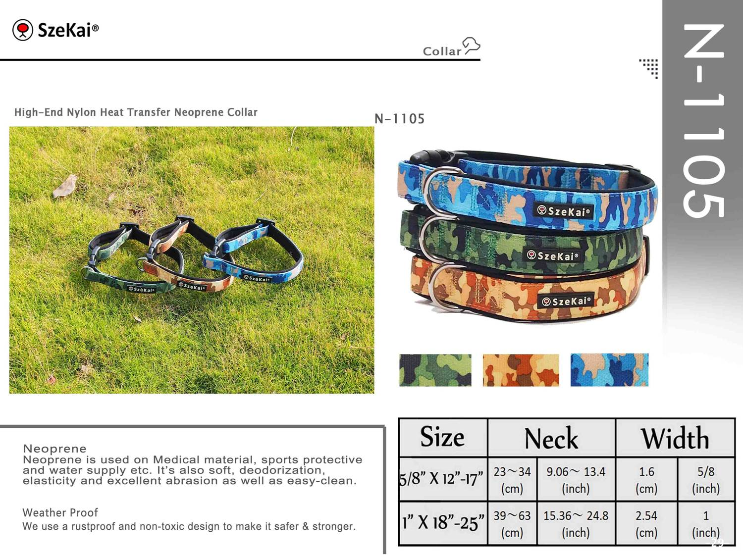 High-End Nylon Heat Transfer Neoprene Collar