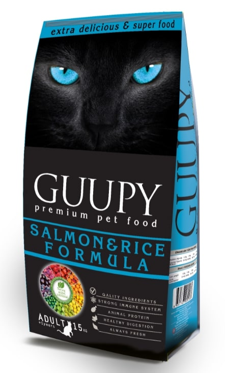 GUUPY ADULT CAT SALMON AND RICE 15 KG