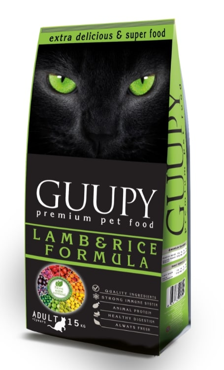 GUUPY ADULT CAT LAMB AND RICE 15 KG