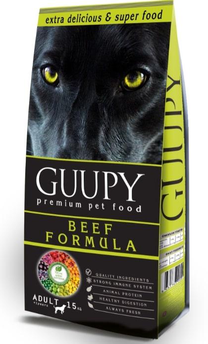 GUUPY ADULT DOG  BEEF 15 KG