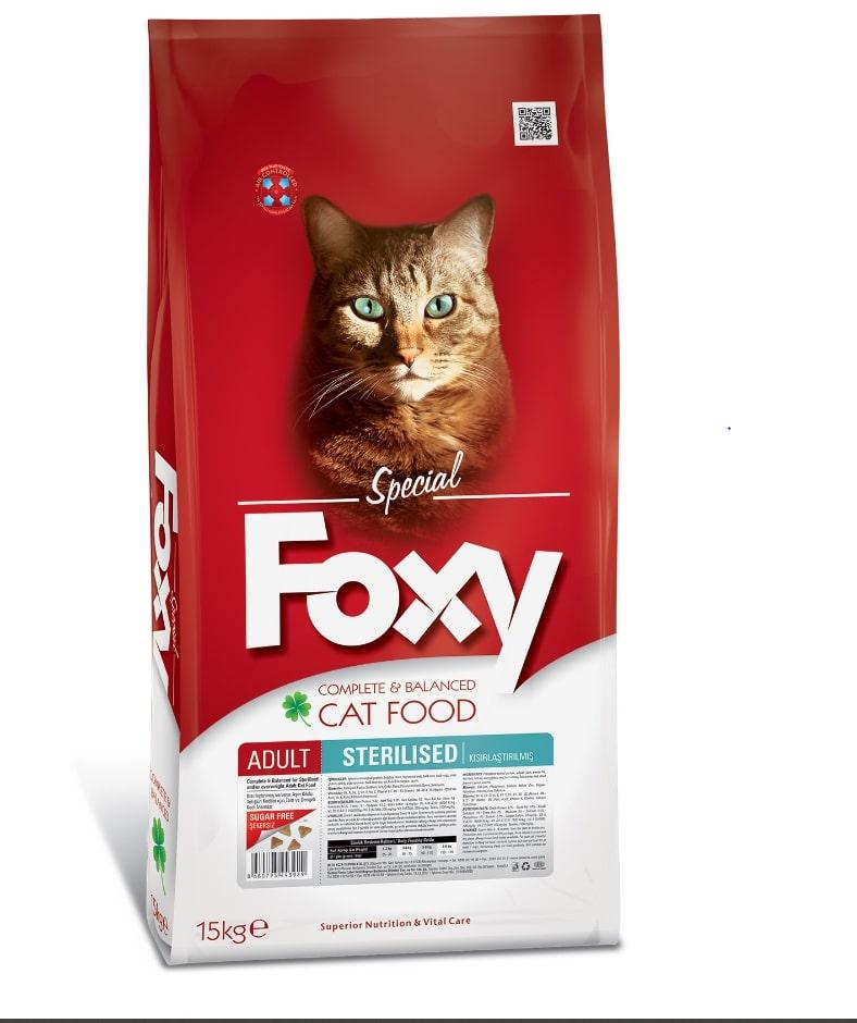 FOXY ADULT CAT STERILISED 15 KG