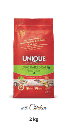 ADULT CAT FOOD LONG HAIRED CHICKEN 2KG