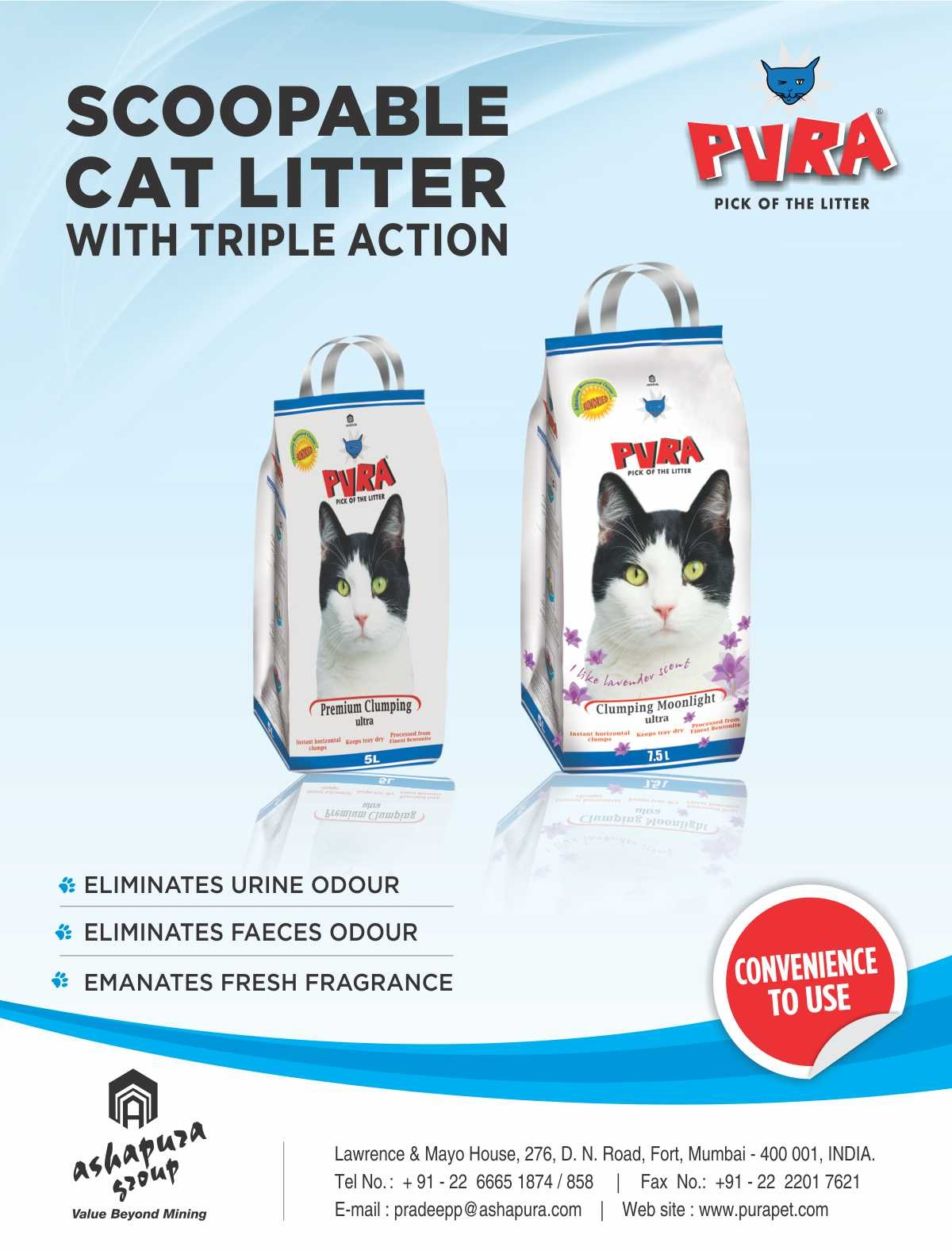PROMOTIONAL OFFER ON OUR RANGE OF SCOOPABLE  CAT LITTER!