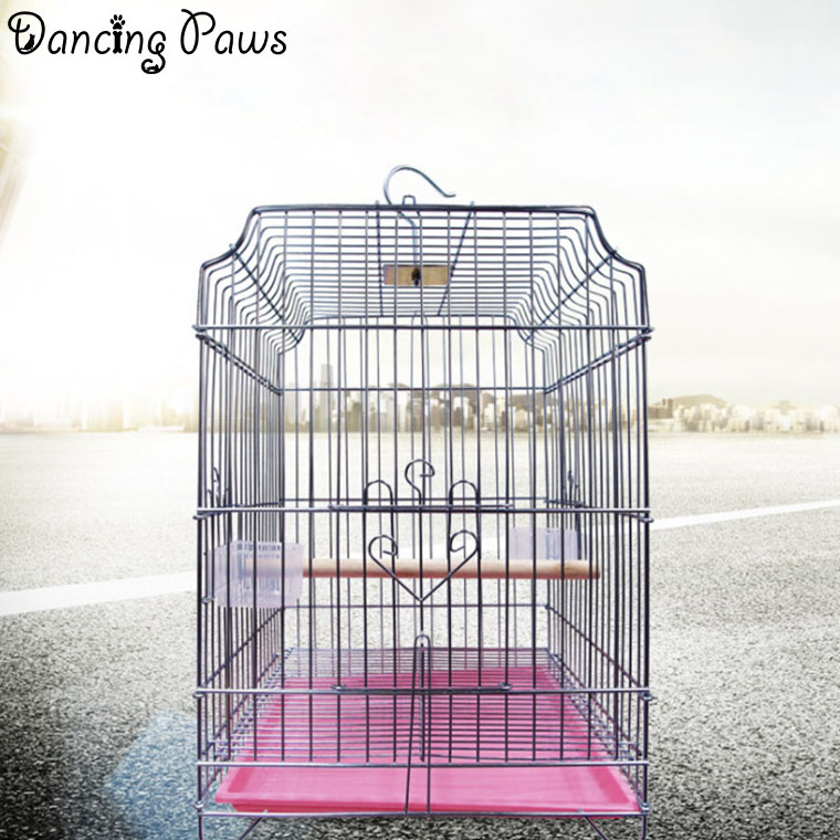 Pet products big size for large bird cage/parrot cage folding/plating starling cage with tray 36*35*52