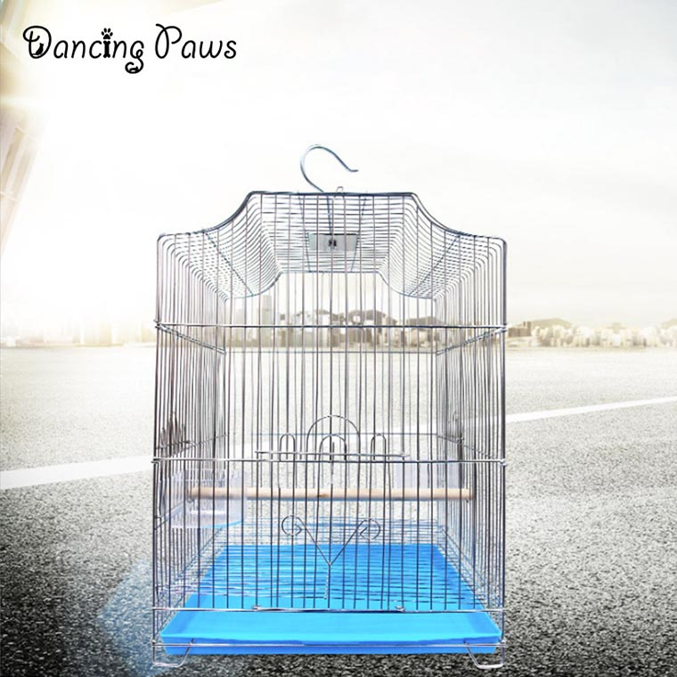 Hotsale large bird cage/parrot cage folding/plating starling cage with tray 33*31*44