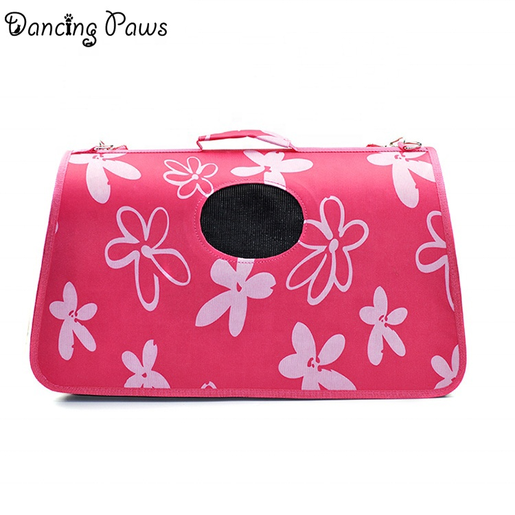 China pet product fashion oxford material airline approved bag pet carrier with zipper