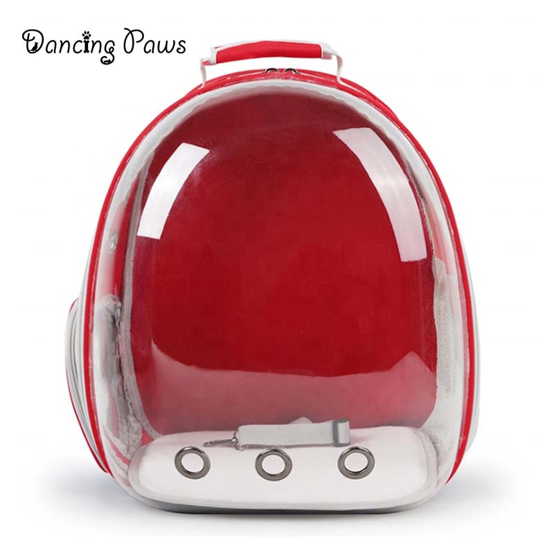 Latest design soft transparent windproof capsule pet carrier backpack