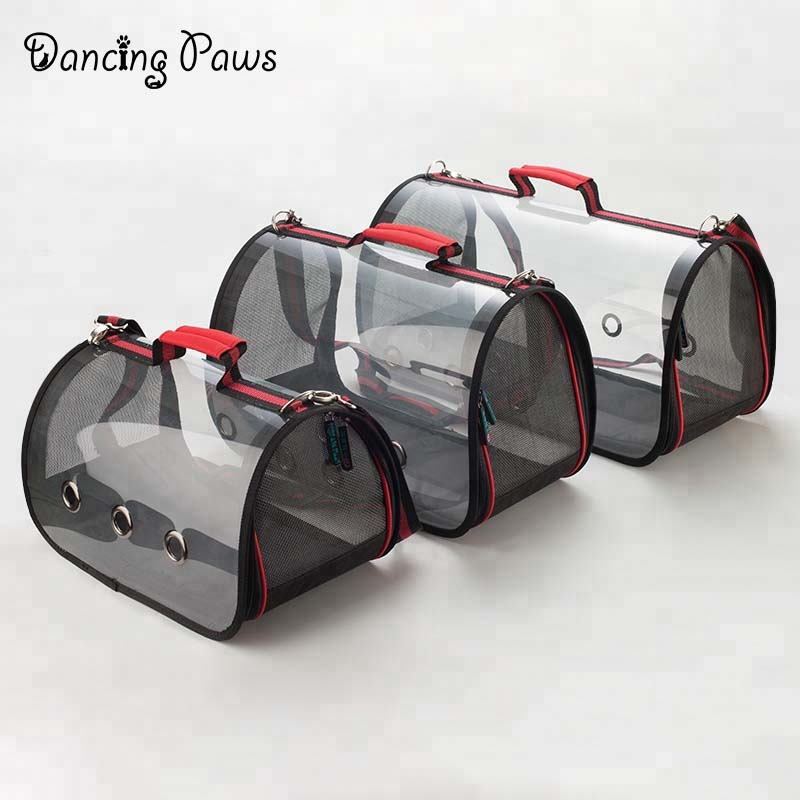 Wholesale Pet Carrier Bag Foldable Transparent Cat Bag Dog Carrier
