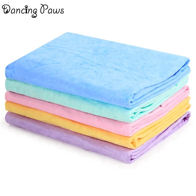Size L 66*43 strong water absorbent microfiber soft PVA drying pet dog towel for cleaning and grooming