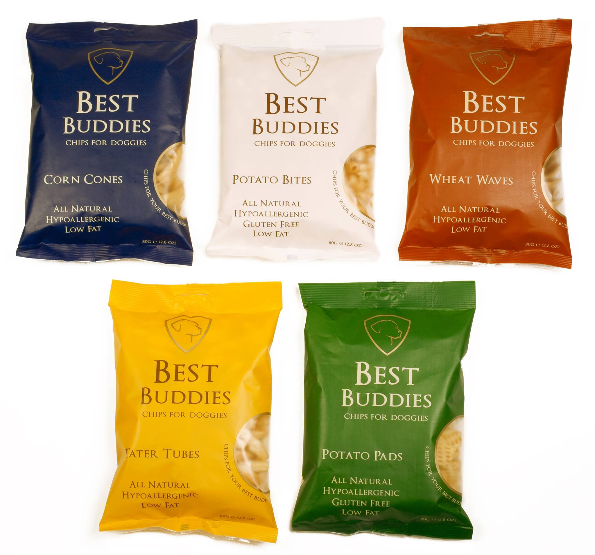 Best Buddies Chips for doggies: 100% natural ingredients without any preservatives.