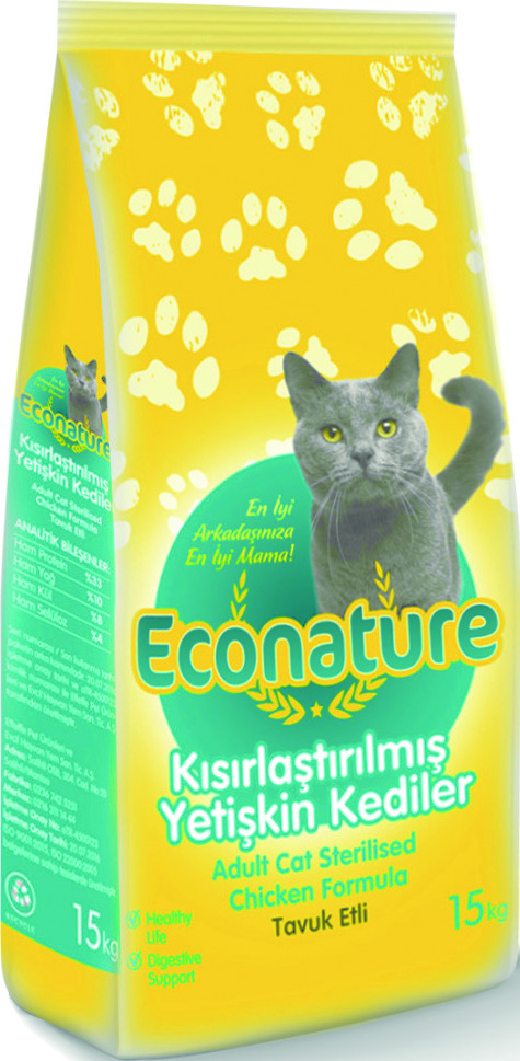ECONATURE ADULT CAT STERILISED ECONOMY